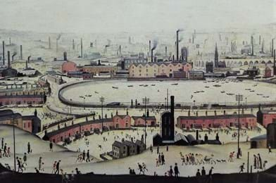 'The Pond' by LS Lowry