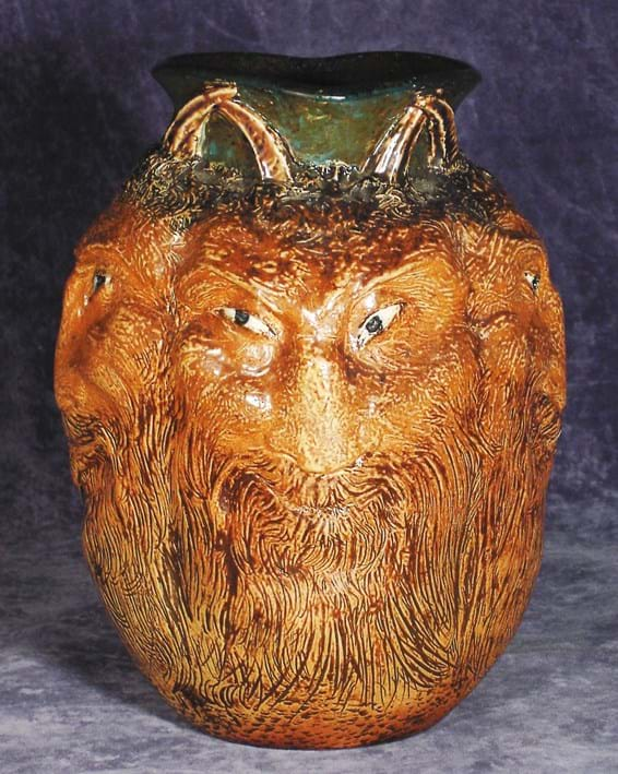 Martin Brothers  satyr vase