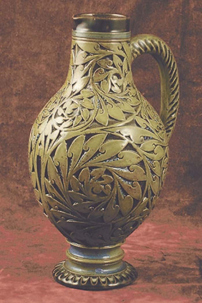 Martin Brothers ewer sold at Woolley & Wallis