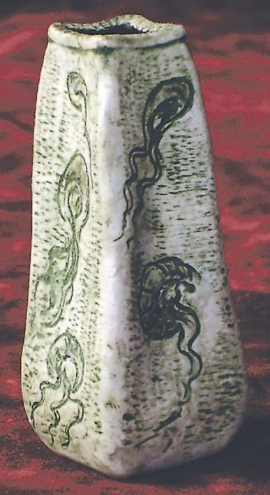 Martin Brothers vase incised with jellyfish