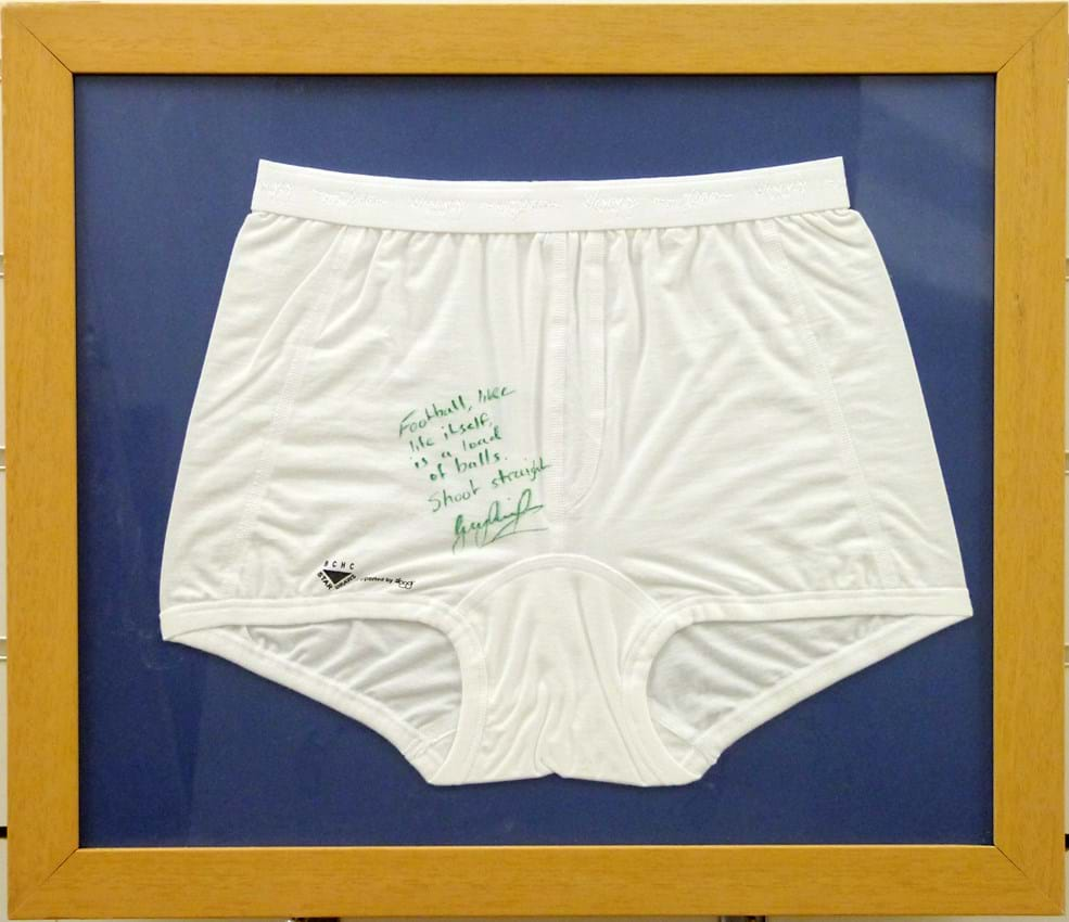 Sloggi pants signed by Gary Lineker