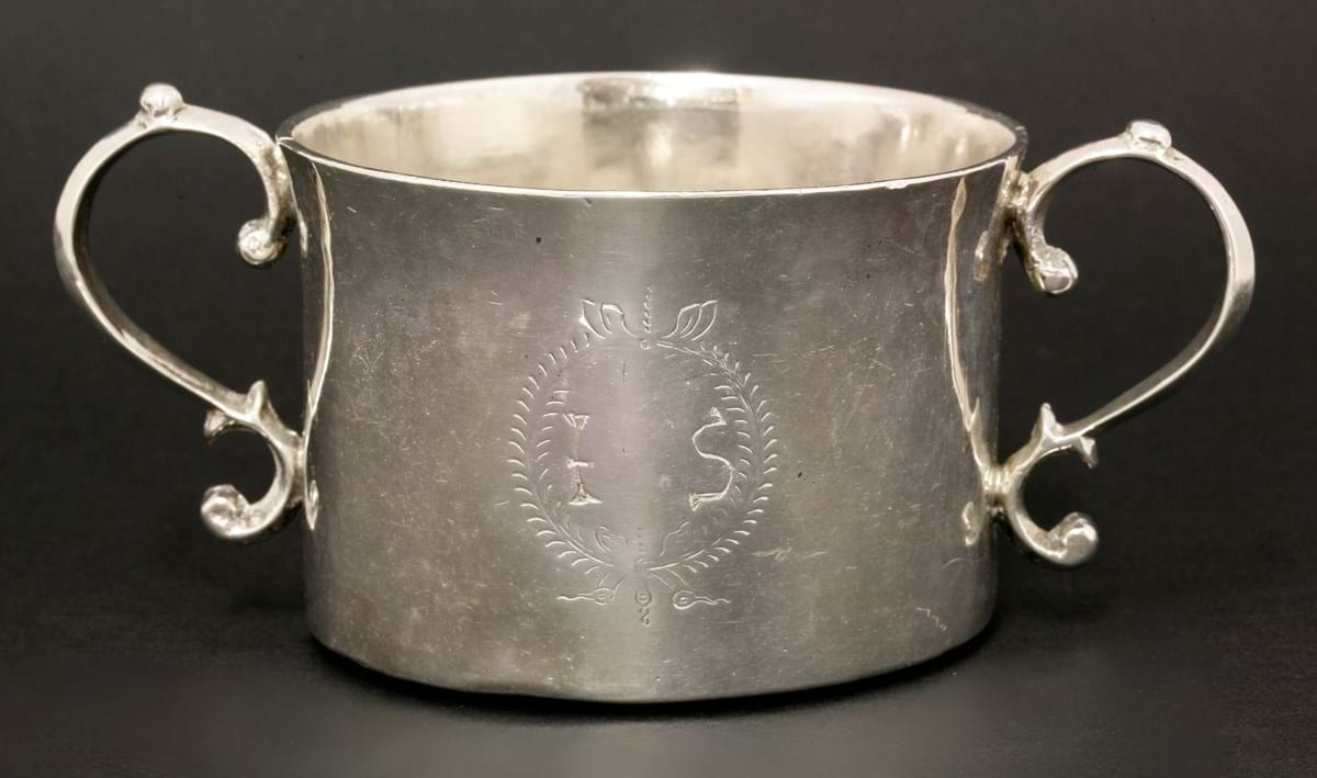 The IS silver porringer