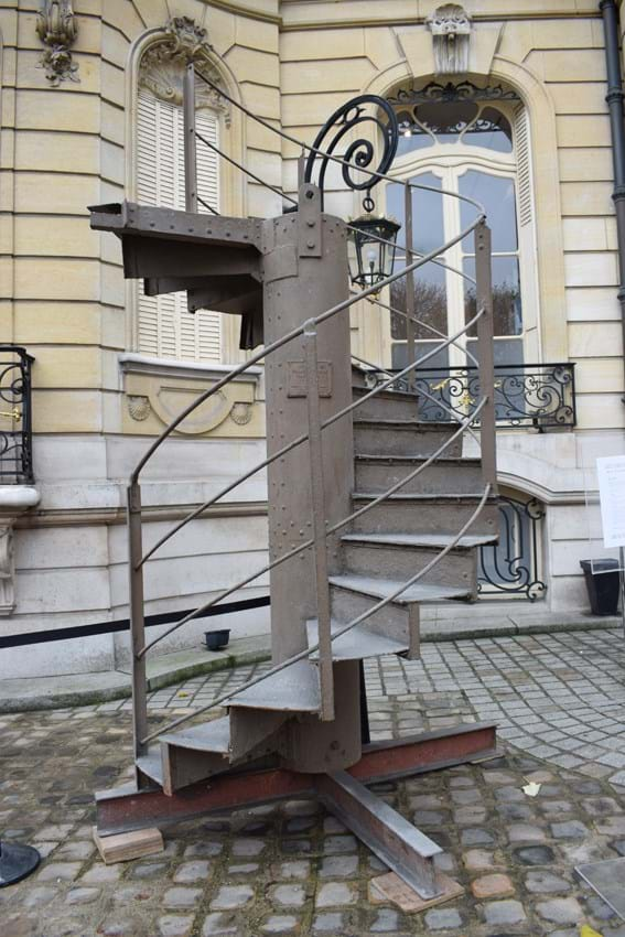 Eiffel Tower staircase at auction